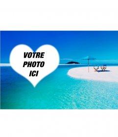 Fond pour des photos avec une plage
