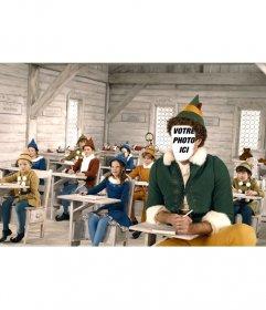 Montage de mettre un visage à Will Ferrell dans le film Elf