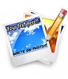 Écrire sur des photos en ligne. Ajouter le texte sur les photos. effet