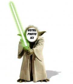 Modèle de photomontages de Yoda de Star Wars pour ajouter votre visage