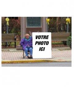 Montage photo drôle de mettre votre photo sur une affiche dans la rue