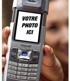 """Montage des images amusantes à mettre votre photo à l""""intérieur d""""un téléphone mobile"""
