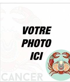Effet photo signe du zodiaque en ligne du cancer. Cancer de crabe