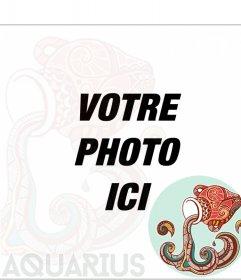 Modèle Verseau signe du zodiaque de mettre vos photos. Utilisez ce modèle