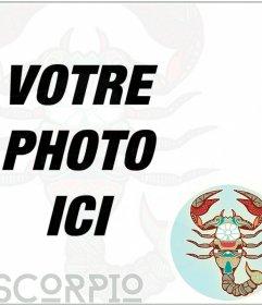 Cadre pour votre photo de profil avec une représentation symbolique de zodiaque de SCORPION
