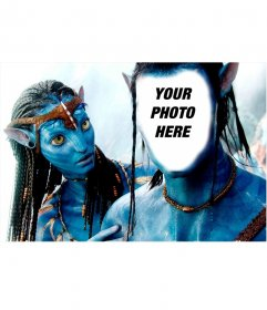 Photomontage to become to the Avatar of Navi