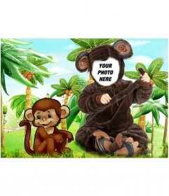 Monkey costume for children that you can put a photo
