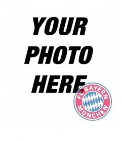 Photomontage of Bayern Munchen badge on your photo