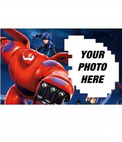 Photo frame of Big Hero 6