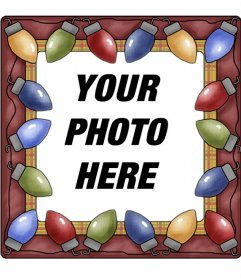 Christmas colors light photo frame on where you can place a photo inside