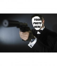 Photomontage of James Bond (Daniel Craig) Photo montage to put your photo on James Bond