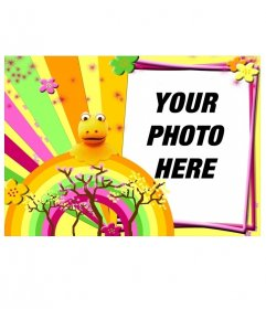 "Photo frame for a photo, children""s motifs with a rainbow atypical"