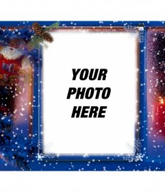 Special Christmas card to add your picture with a decorative filter