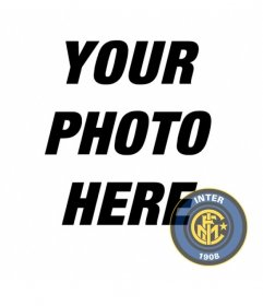 Photo montage to bring the Inter Milan badge on your photo