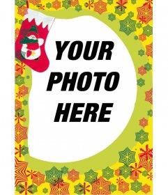 Photo frame, Christmas gift-bottom red starlets