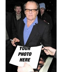 In this photo montage you will ask a famous Hollywood actor to sign your photograph