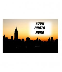 Put your photo postcard with the city of New York in the background. Upload a photo and create the card and send it from the same page