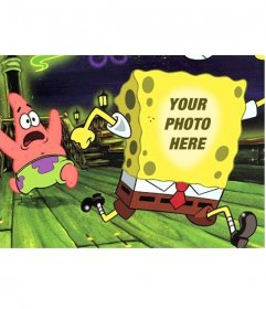 Photomontage of SpongeBob and Patrick to do with your picture
