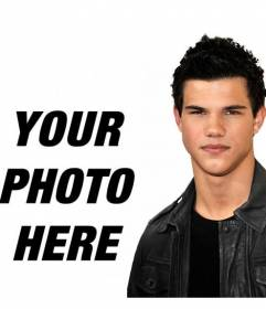 Photo montage with Taylor Lautner of New Moon