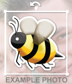 Emoji a bee sting as the online sticker that you can insert into your images