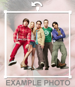 The Big Bang Theory characters pose for your pictures with this sticker