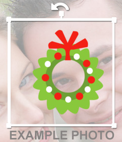 Sticker online with mistletoe to decorate your Christmas photos