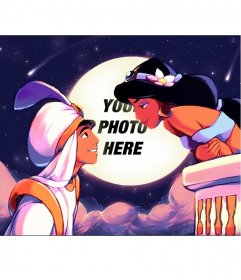 Photomontage of the movie Aladdin