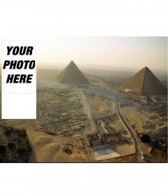 Background for twitter where you can put your photo, of ancient Egyptian pyramids