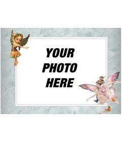 Photo frame with winged fairy images that put a photo online