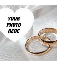 Special photo effect with two engagement gold rings