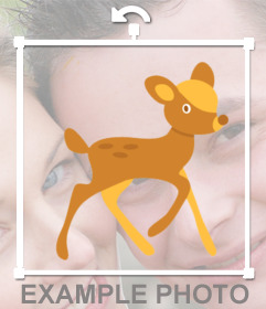 Sticker of a fawn for your photos