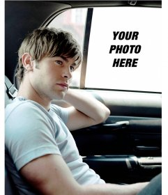 Photomontage with actor Chace Crawford