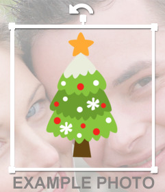 Online sticker of a nice Christmas tree to decorate your photos