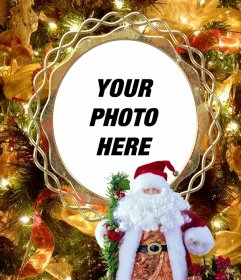Put your photo on a Christmas tree with Santa Claus