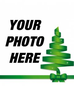 Christmas tree vector to decorate your photo