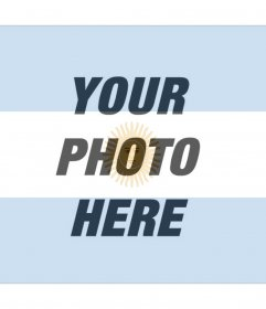 Photomontage to make with the flag of Argentina with your photo