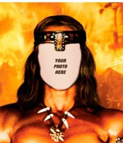 Put your face in this online photomontage of Conan the Barbarian