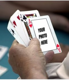Photomontage to put your photo on an ace of hearts in a poker game