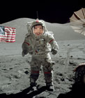 Photomontage to put your face of an astronaut on the moon