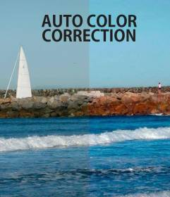 Automatic correction of color in photos online