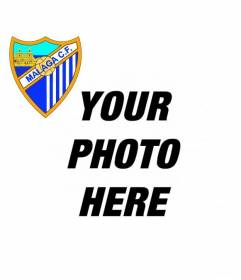 Add to your profile picture the Malaga football club shield online and free