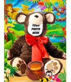 Virtual costume of a baby bear to make with a photo for free