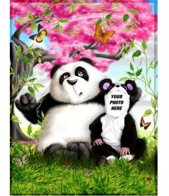 Panda costume that you can edit online and free