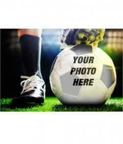 Photomontage to put your photo on a soccer ball