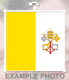 Flag of Vatican City you can put in your photos