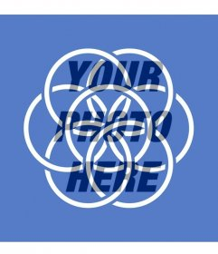 Earth flag symbolizing peace and unity of the people to put in your profile picture