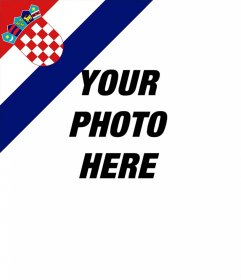 Effect of Croatia flag in a corner of your photos for free