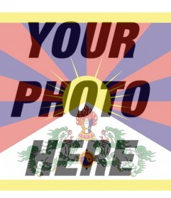Photo filter of Tibet flag that you can use as your profile picture
