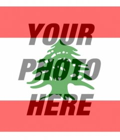 Flag of Lebanon to put on your profile picture social networking