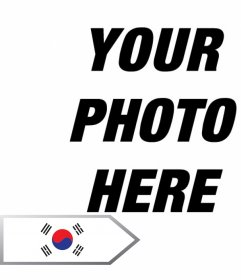 Photo montage online  to add an arrow with the flag of South Korea